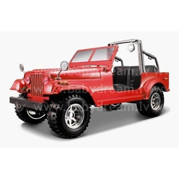 Bburago Automašīna 1:24 Jeep Wrangler, 18-22033 Red