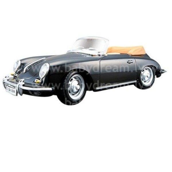 Bburago Automašīna 1:24 Porsche 356B Cabrio, 18-22078 Black