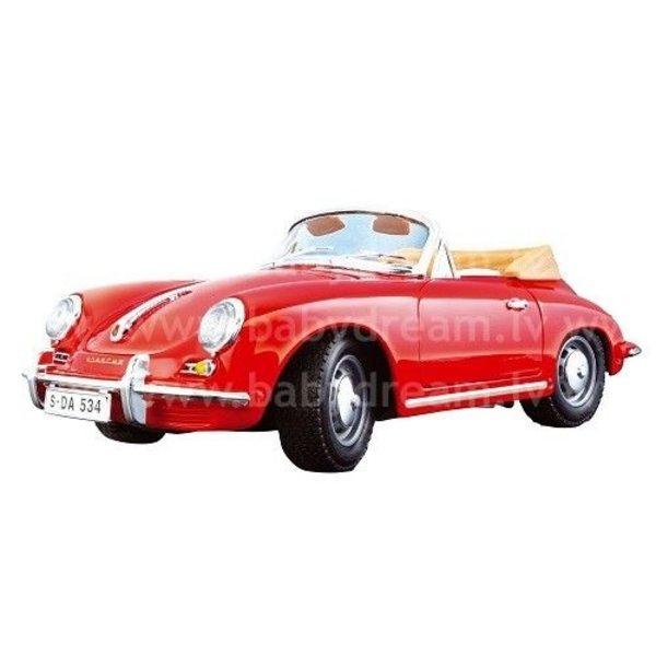Bburago Automašīna 1:24 Porsche 356B Cabrio, 18-22078 Red