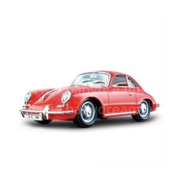 Bburago Automašīna 1:24 Porsche 356B Coupe, 18-22079 Red