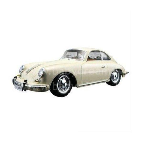 Bburago Automašīna 1:24 Porsche 356B Coupe, 18-22079 White