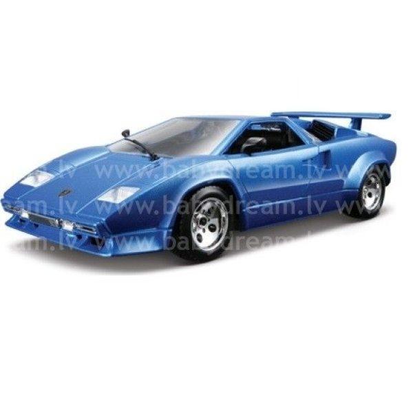 Bburago Automašīna 1:24 Lamborghini Countach, 18-22087 Blue