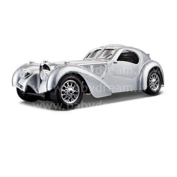 Bburago Automašīna 1:24 Bugatti Atlantic, 18-22092 Silver