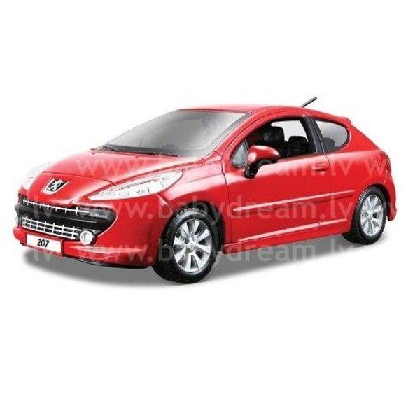 Bburago Automašīna 1:24 Peugeot 207, 18-22102 Red