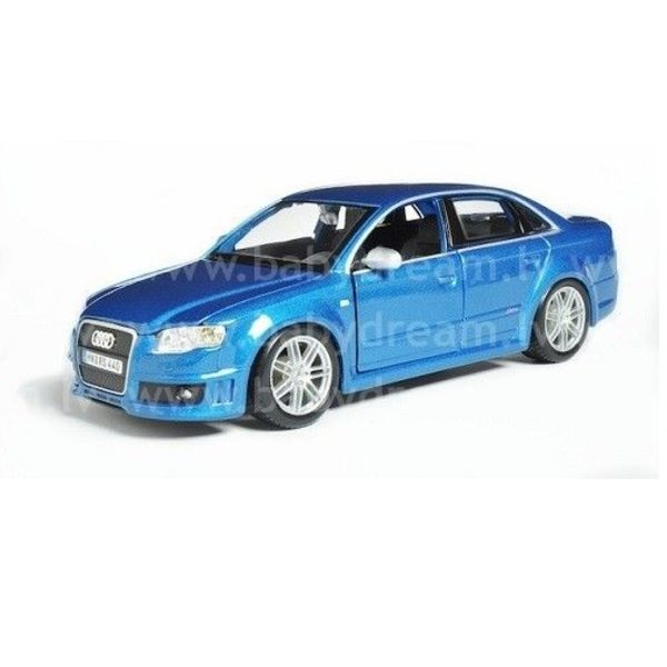 Bburago Automašīna 1:24 Audi RS4 Met.blue, 18-22104 blue