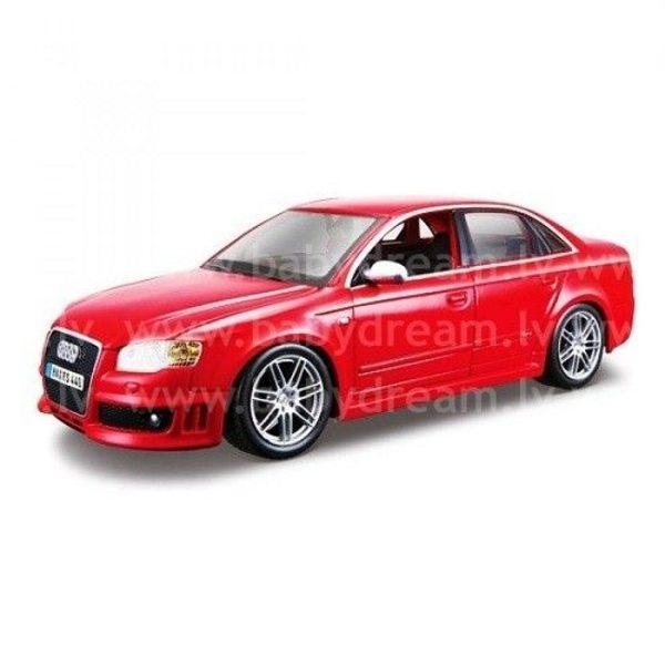 Bburago Automašīna 1:24 Audi RS4 Met.red, 18-22104 red