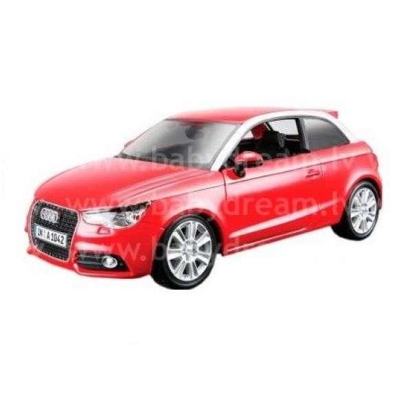 Bburago Automašīna - konstruktors 1:24 Audi A1 Red, 18-25105_red