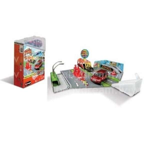Bburago Spēļu komplekts Street Fire Open & Play Set, 18-30048 Red