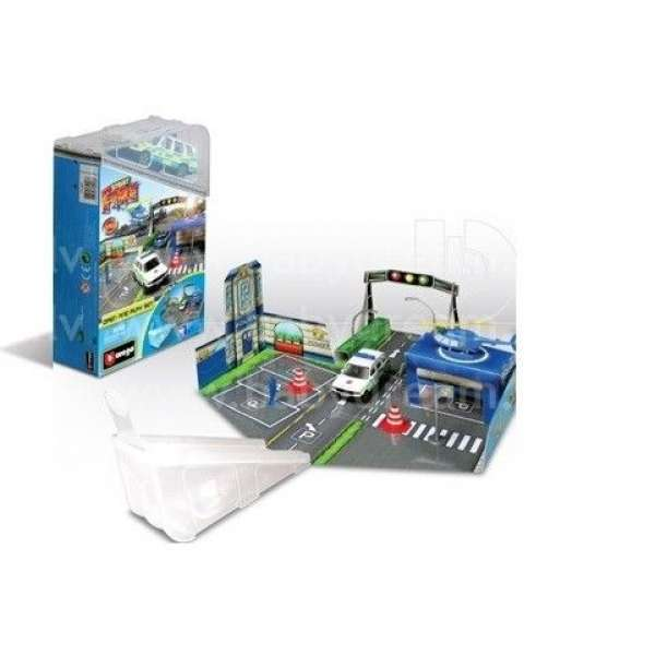 Bburago Spēļu komplekts Street Fire Open & Play Set, 18-30048 Blue