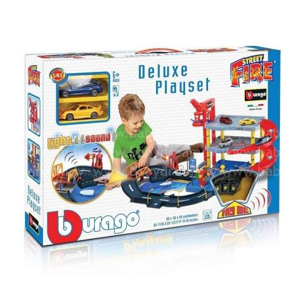 Bburago Spēļu komplekts Street Fire Deluxe 1:43, 18-30107