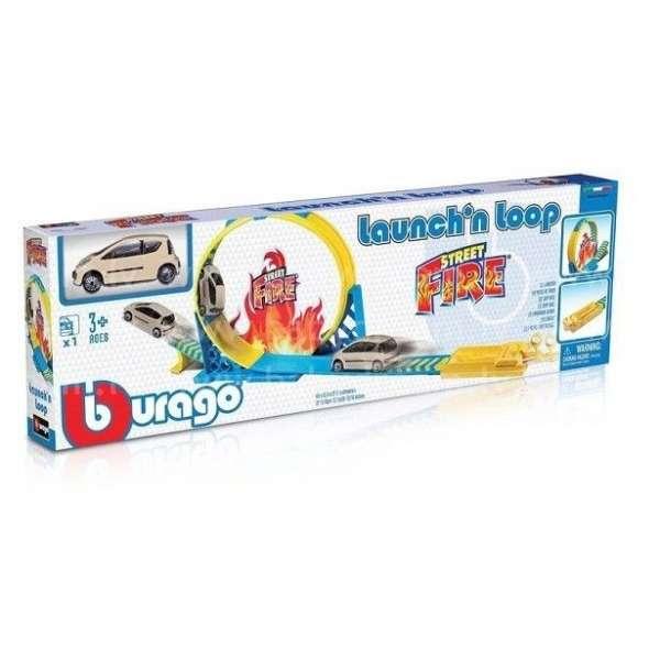 Bburago Autotrase 1:43 Street Fire Loop W/Launcher, 18-30283