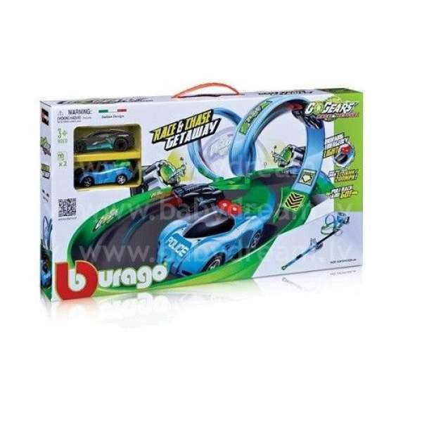 Bburago Autotrase 1:55 Go Gear Race & Chase Getaway Playset, 18-30349