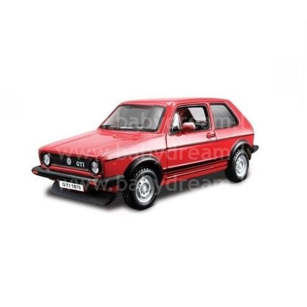 Bburago Automašīna 1:32 VW Golf Mark 1 GTI, 18-43205 Red