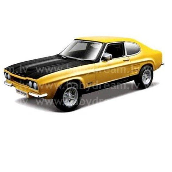 Bburago Automašīna 1:32 Ford Capri RS2600 1970, 18-43207 Yellow