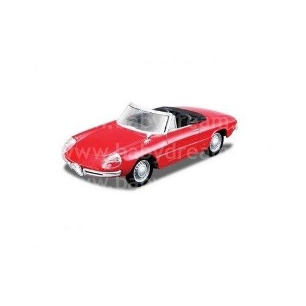 Bburago Automašīna 1:32 Alfa Romeo Spider, 18-43211 Red