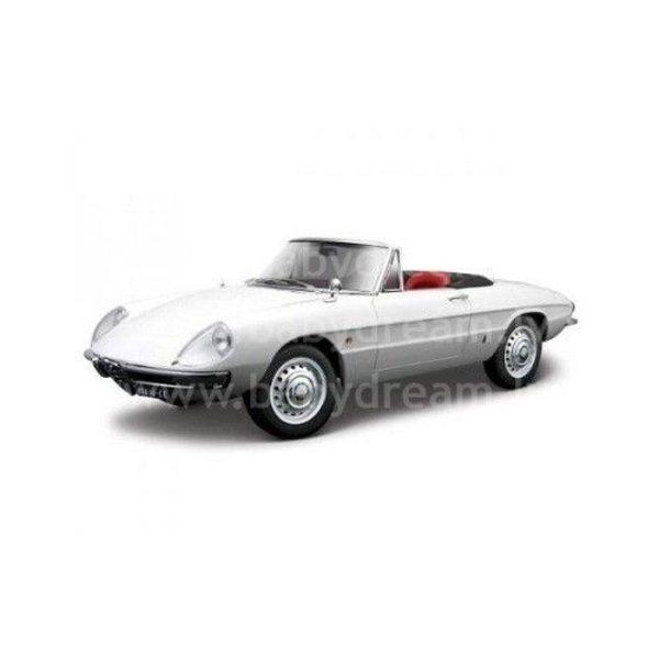 Bburago Automašīna 1:32 Alfa Romeo Spider, 18-43211 White