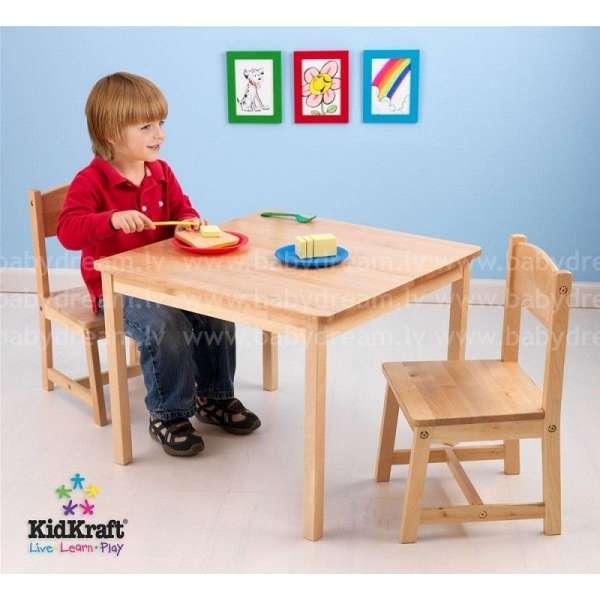Kidkraft Aspen Table and 2 Chair Set Natural  - Galdiņš ar krēsliņiem, 21221