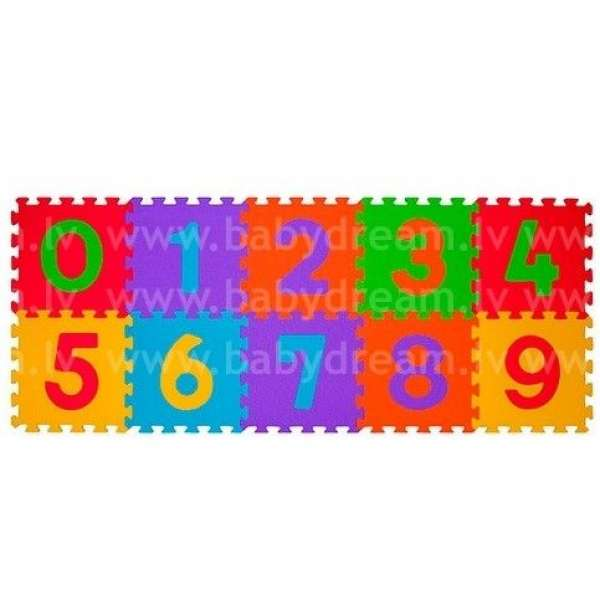 "BabyOno Puzzle-paklājiņš ""Cipari"" 10 gab., 274"