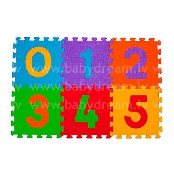 "BabyOno Puzzle-paklājiņš ""Cipari"" 6 gab., 275"