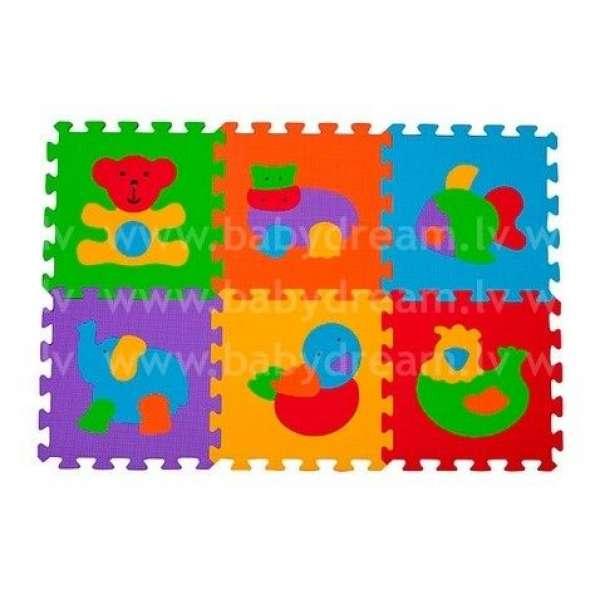 """BabyOno Puzzle-paklājiņš """"Dzīvnieki"""" 6 gab., 277"""