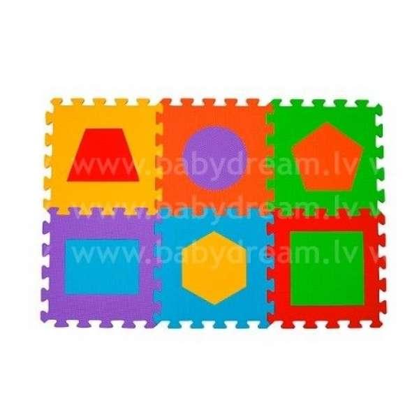 "BabyOno Puzzle-paklājiņš ""Figūras"" 6 gab., 279"