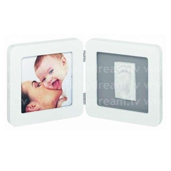 Baby Art Print Frame White&Grey Komplekts mazuļa pēdiņu/rociņu nospieduma izveidošanai, 34120050