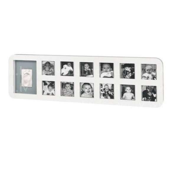 Baby Art First Year Print Frame komplekts mazuļa pēdiņu/rociņu nospieduma izveidošanai, white&grey, 34120085