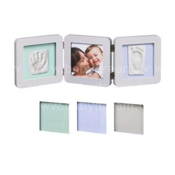 Baby Art Double Print Frame Pastel Komplekts mazuļa pēdiņu/rociņu nospieduma izveidošanai, 34120140