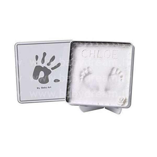 Baby Art Magic Box White&Grey Komplekts mazuļa pēdiņu/rociņu nospieduma izveidošanai, 34120159