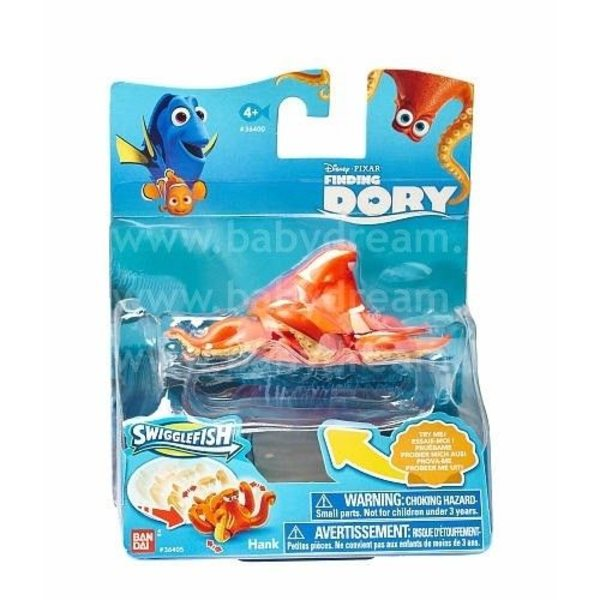 Bandai Finding Dory - Meklējot Doriju, Kustīga figūra Hank 5-8 cm, 36400_Hank