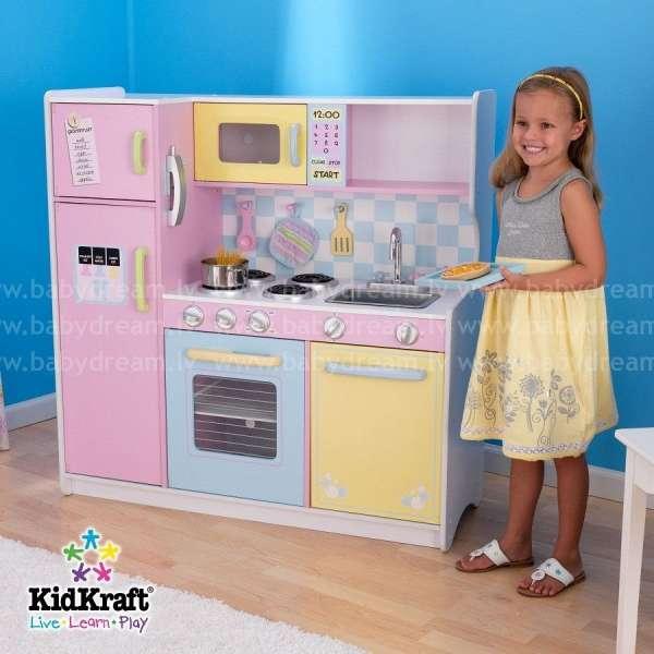 Kidkraft Large Pastel Kitchen - Bērnu virtuve, 53181