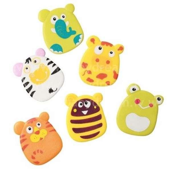 """BabyOno Rotaļlietas vannai-piesūcēkņi 6 gab. """"Safari"""", 533"""