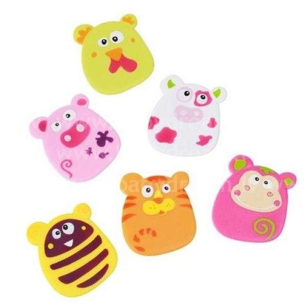 """BabyOno Rotaļlietas vannai-piesūcēkņi 6 gab. """"Dzīvnieki"""", 533"""