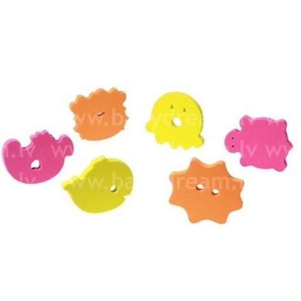 """BabyOno Rotaļlietas vannai mīksts puzzle 6 gab. """"Ocean"""", 534"""