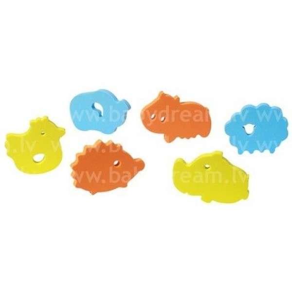 """BabyOno Rotaļlietas vannai mīksts puzzle 6 gab. """"Zoo"""", 534"""