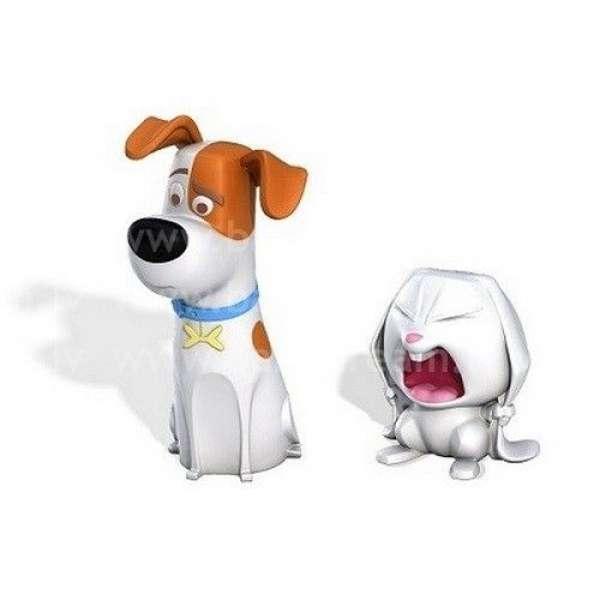 Spin Master Secret Life of Pets - Mīluļu slepenā dzīve, Varoņa figūra 2 gb. Max and Snowball
