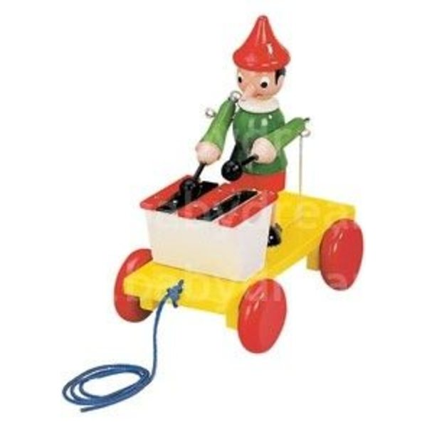 Bino Velkamā rotaļlieta Pinocchio With Xylophon, 80037