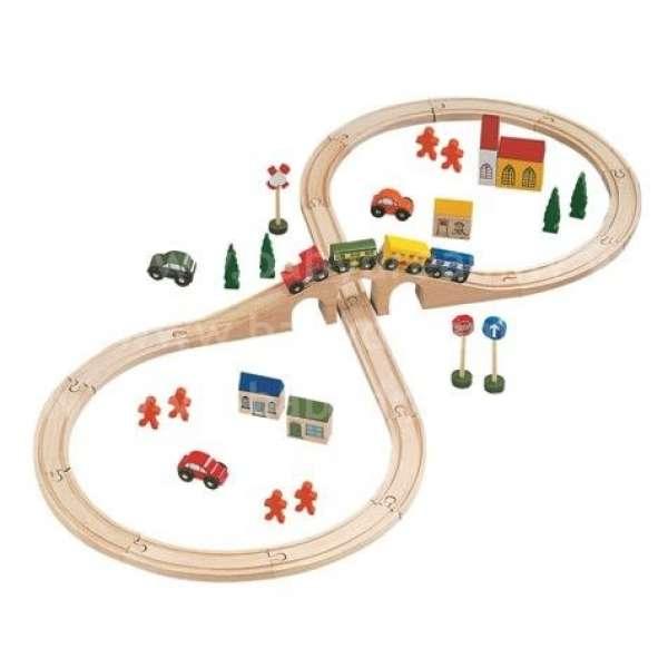 Bino Koka dzelzceļš Railway Set, 46 pcs., 82242