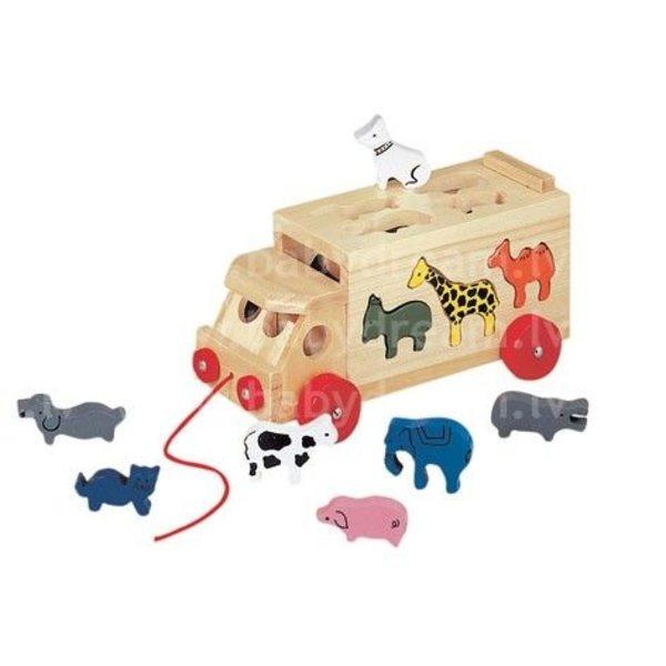 Bino Koka sorteris Animal Shape Fitting Lorry, 84068