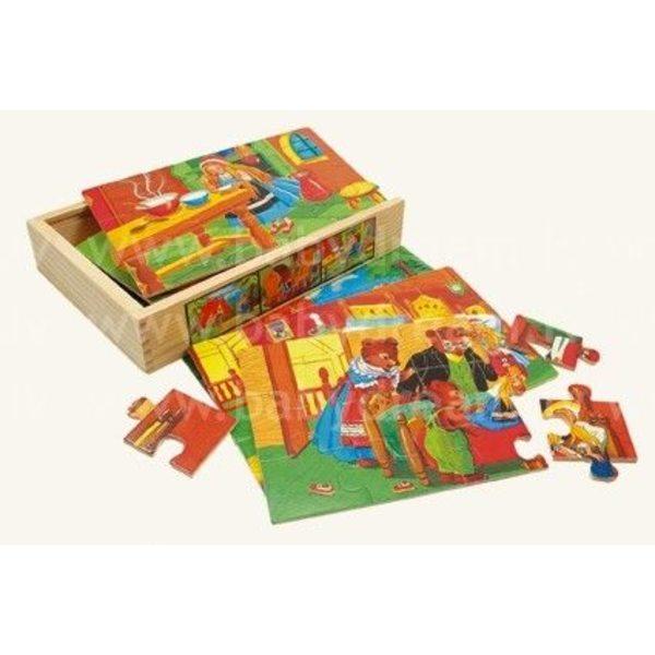Bino 6 Puzzles in Box, Fairy Tale, 88013