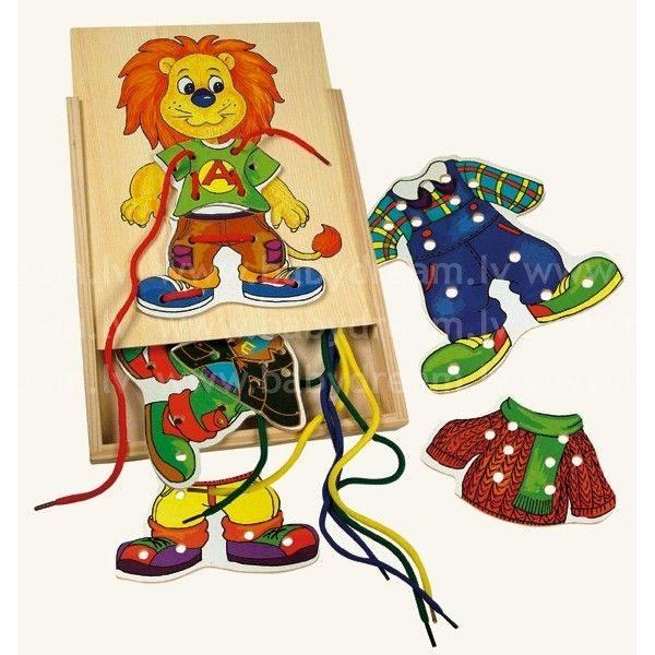 Bino Šņorējamā rotaļlieta Leo, 88102