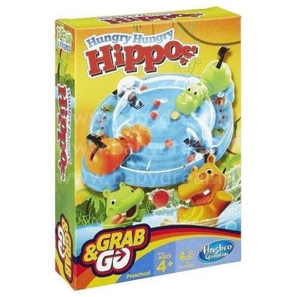 """Hasbro Galda Spēle """"Hungry Hungry Hippos"""" ceļojumiem, B1001"""