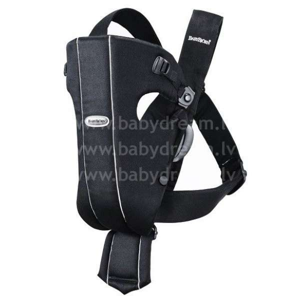 BabyBjorn Ķengursoma Baby Carrier Original, Cotton, Black/Pinstripe