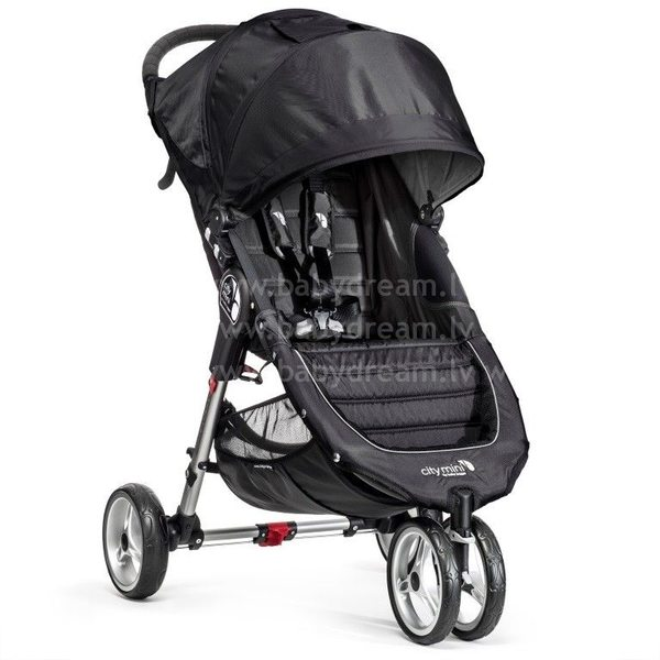 Baby Jogger City mini Black/Gray Bērnu sporta rati