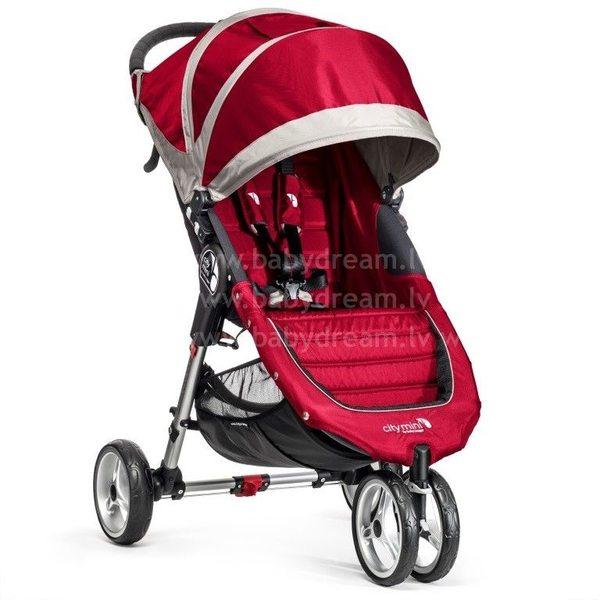 Baby Jogger City mini Crimson/Gray Bērnu sporta rati