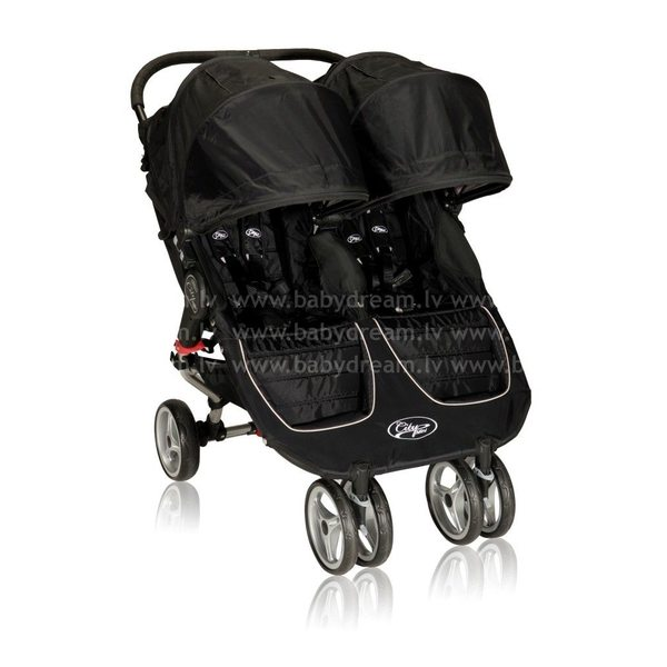 Baby Jogger City mini Double Black/Gray Bērnu dvīņu rati
