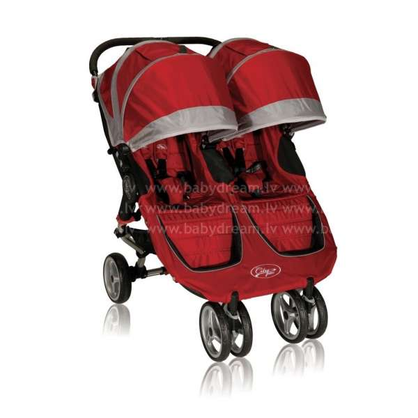 Baby Jogger City mini Double Crimson/Gray Bērnu dvīņu rati