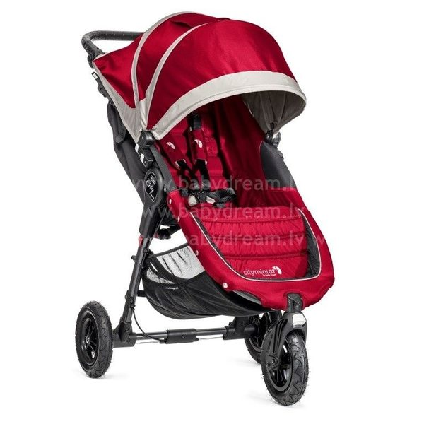 Baby Jogger City mini GT Crimson/Grey Bērnu sporta rati