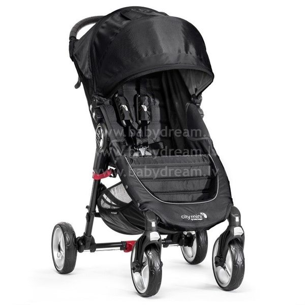 Baby Jogger City mini 4W Black/Gray Bērnu sporta rati