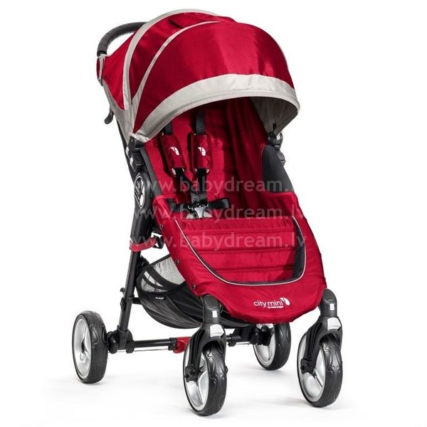 Baby Jogger City mini 4W Crimson/Gray Bērnu sporta rati
